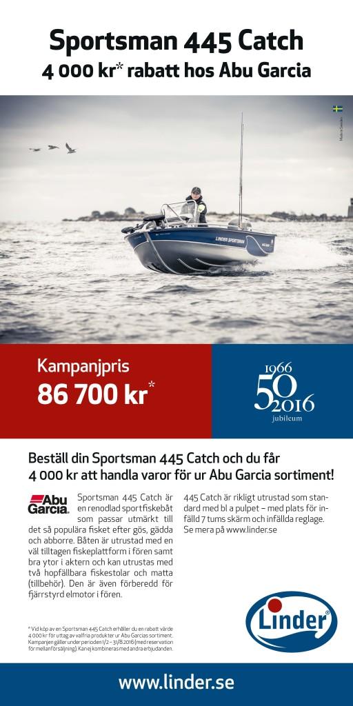 Sportsman 445 Catch 4 000 kr* rabatt hos Abu Garcia